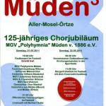 125-jähriges Jubiläum MGV Müden